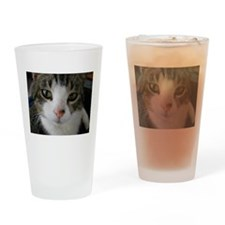 I See You Cat Drinking Glass