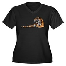 Reclining Tiger Plus Size T-Shirt
