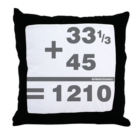 DJ Maths Throw Pillow