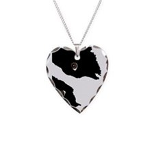 Unique Graphic Necklace Heart Charm
