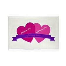 Forever Love Heart Names Rectangle Magnet (100 pac