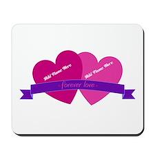 Forever Love Heart Names Mousepad