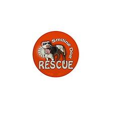 Cute Smiling dog rescue Mini Button