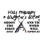 Dad's Philosophy 35x21 Wall Decal