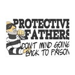 Protective Fathers 35x21 Wall Decal