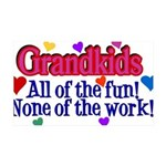 Grandkids - All the fun! 35x21 Wall Decal