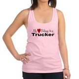 heartrucker.png Racerback Tank Top