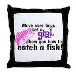 GIRLFISH.png Throw Pillow