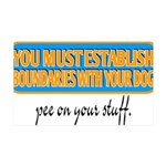 Pee on your stuff 35x21 Wall Decal
