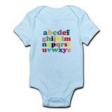Colorful Alphabet Body Suit