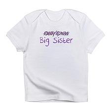 Big Sister Purple Letters Infant T-Shirt