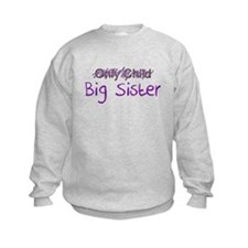 Big Sister Purple Letters Sweatshirt