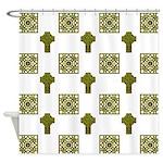 Ornate Irish Cross Shower Curtain