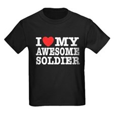 I Love My Awesome Soldier T