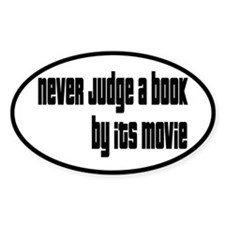 Never Judge A Book By Its Movie Decal