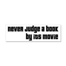 Never Judge A Book By Its Movie Car Magnet 10 x 3