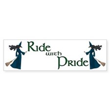 Ride with Pride Bumper Car Sticker