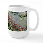 Tulips Along White Picket Fence Mug