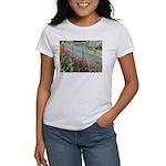 Tulips Along White Picket Fence T-Shirt