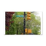 Central Park street sign Rectangle Car Magnet