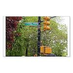 Central Park street sign Sticker