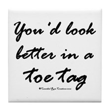 Toe Tag Tile Coaster