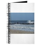 Crashing Wave on rocks along beach Journal