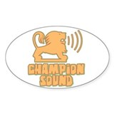 Champion Sound Lion Oval Decal