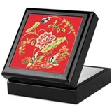 Medieval Chinese Floral Keepsake Box