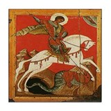 St. George Slaying the Dragon Tile