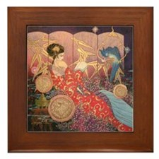 Asian Beauty Framed Tile