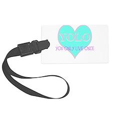 Heart Yolo Luggage Tag