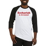 Zechariah is Awesome Baseball Jersey