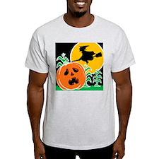 Jack-o-Lantern Spook Ash Grey T-Shirt