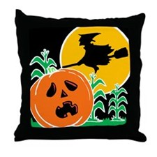 Jack-o-Lantern Spook Throw Pillow