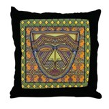 African Mask Throw Pillow