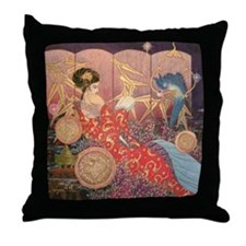 Asian Beauty Throw Pillow