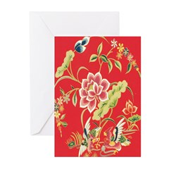 Chinese Floral Cards (Pk of 10)