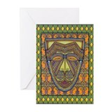 African Mask Greeting Cards (Pk of 10)