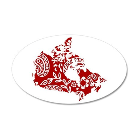 Paisley 20x12 Oval Wall Decal