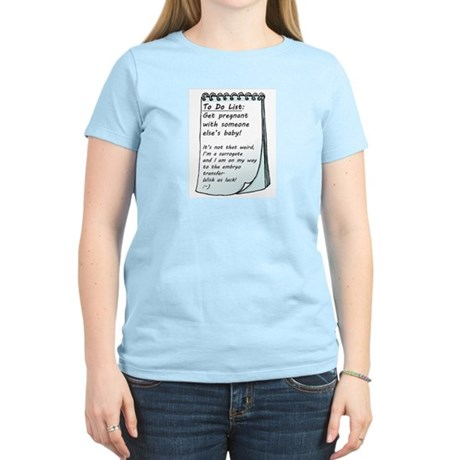 Women's Light T-Shirt Surrogacy To Do List