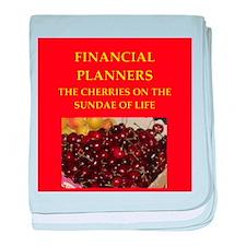 financial planner baby blanket