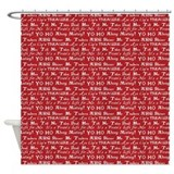 Pirate Sayings Red Shower Curtain