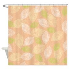 Peach Leaves Shower Curtain