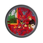 Harmony In Red Wall Clock