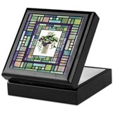 Stained Glass Cross Rosary Box