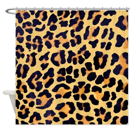 Cheetah Print Shower Curtain by be_inspired_by_life