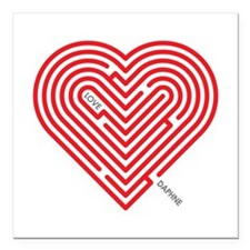 "I Love Daphne Square Car Magnet 3"" x 3"""