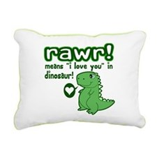 Cute! RAWR Means Love Rectangular Canvas Pillow