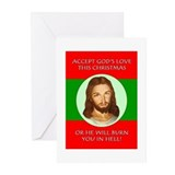 Cute Offensive christmas Greeting Cards (Pk of 20)